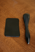 Gua Sha is accomplished with repeated pressured strokes over lubricated skin with a smooth edge moved firmly either along muscle fibres or Acupuncture meridians.